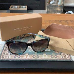 Shwood glasses Blue opal grey polarized lenses